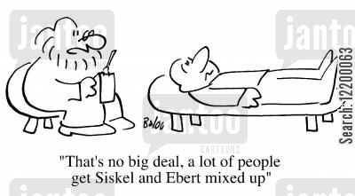 siskel cartoon humor: That's no big deal, a lot of people get Siskel and Ebert mixed up