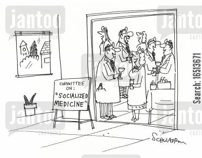 socialize medicine cartoon humor: Committee on 'Socialized Medicine.'