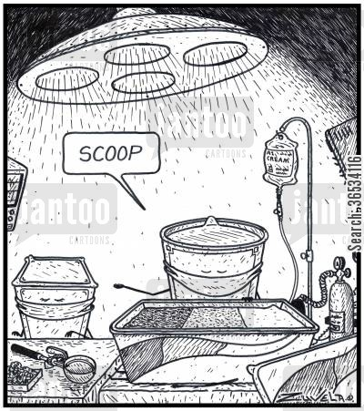 operating table cartoon humor: Ice Cream Surgeon