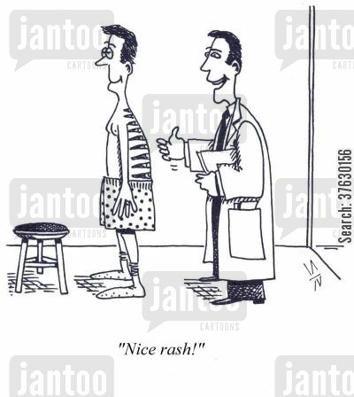 doctors practice cartoon humor: 'Nice Rash'