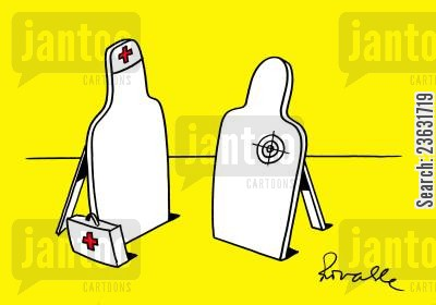 first aid cartoon humor: Target