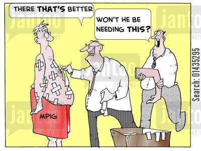 medicalinsurance cartoon humor: MPIG: 'There that's better...'