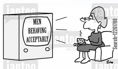 comedy shows cartoon humor: Men Behaving Acceptably.