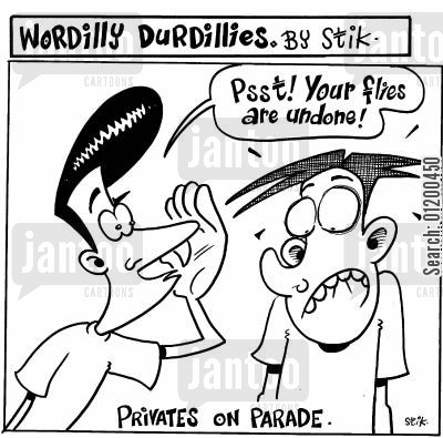 expose cartoon humor: Wordilly Durdillies - Privates on parade