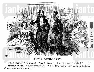 victorian fashion cartoon humor: Lord Dundreary