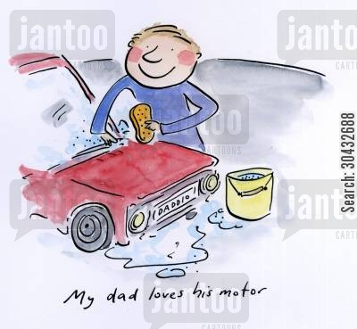 castrol cartoon humor: My dad loves his motor.