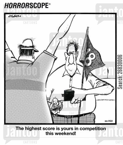 sore losers cartoon humor: The highest score is yours in competition this weekend!