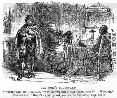 geoffrey haredale cartoon humor: Old John's bodyguard