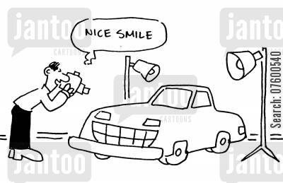 foto cartoon humor: 'Nice smile.'