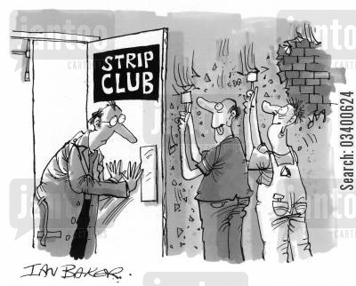strippers cartoon humor: Strip Club