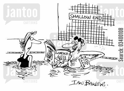 superficial cartoon humor: Shallow End