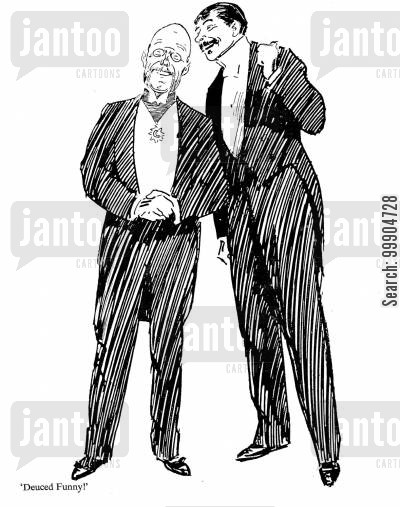 punch magazine cartoon humor: Deuced Funny!