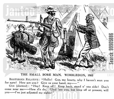 wimbledon 1863 cartoon humor: Historic Landmarks - Wimbledon, 1863