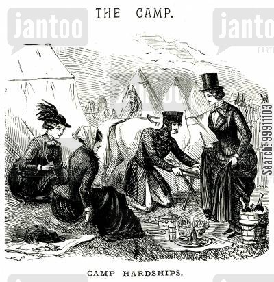 picnics cartoon humor: The Camp, Pt. 1