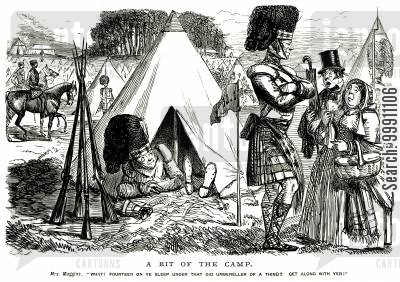 bivouac cartoon humor: The Camp, Pt. 2