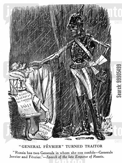 skeletons cartoon humor: General Fevrier Turned Traitor - The Crimean War