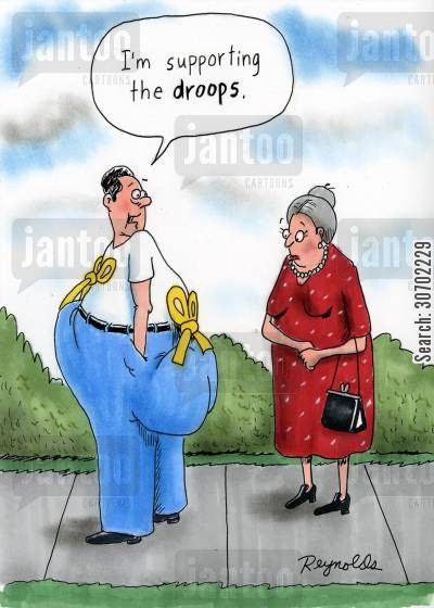supporting the troops cartoon humor: 'I'm supporting the droops.'