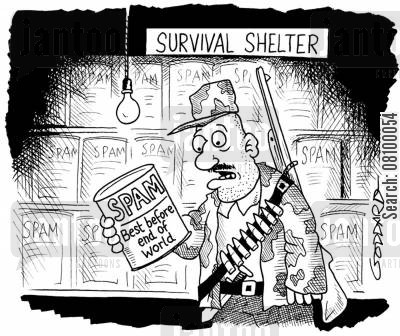 nuclear shelter cartoon humor: Survivalist, Best Before end of the world