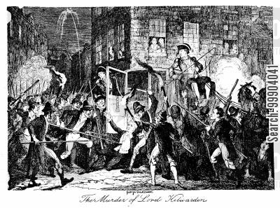 mob cartoon humor: Irish Rebellion 1798 - Murder of Lord Kilwarden