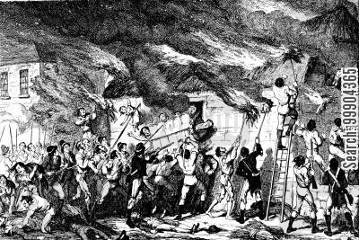 irish nationalism cartoon humor: Irish Rebellion 1798 - The Scullabogue Massacre