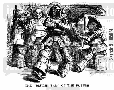 iron ship cartoon humor: The 'British Tar' of the Future (The Future of the Navy)