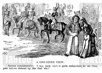 victorian soldier cartoon humor: A One-Sided View.