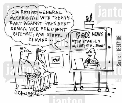 rants cartoon humor: The Stanley McChrystal Show.