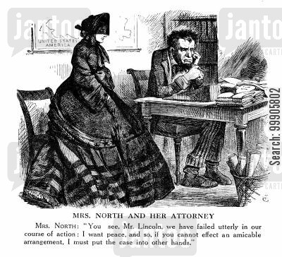 mrs north cartoon humor: Dissatisfaction with the War Policy of Lincoln