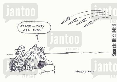 gulf war cartoon humor: Relax...they are ours.