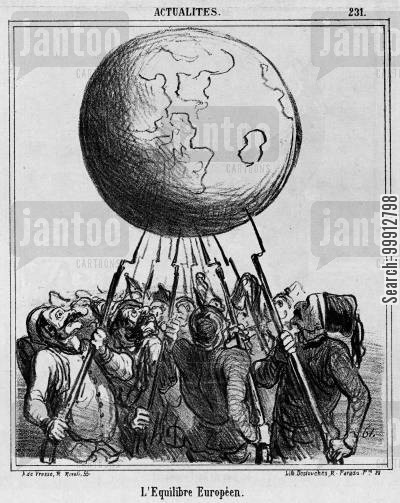 austro-prussian war cartoon humor: Actualities - The European Equilibrium