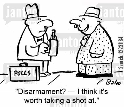 taking a shot cartoon humor: 'Disarmament? — I think it's worth taking a shot at.'