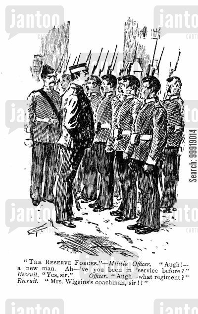 regiments cartoon humor: The Reserve Forces.
