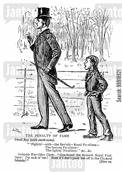 british imperialism cartoon humor: The Penalty of Fame