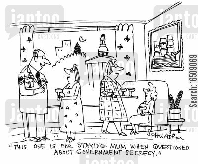 dress uniform cartoon humor: 'This one is for staying mum when questioned about governemnet secrecy.'