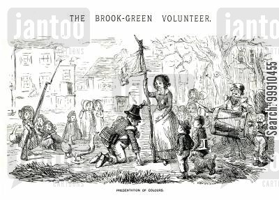 rifleman cartoon humor: The Brook-Green Volunteer Pt. 1