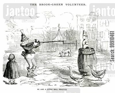 rifleman cartoon humor: The Brook-Green Volunteer Pt. 3