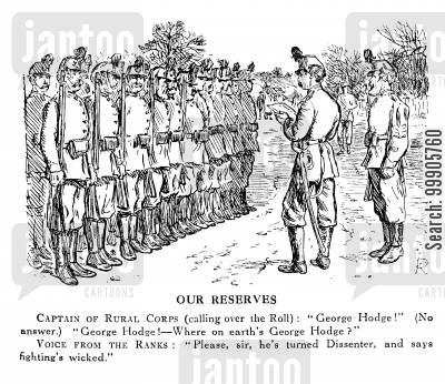 rollcall cartoon humor: British Reserve Soldiers