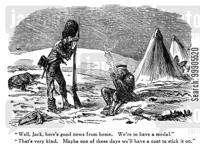 freeze cartoon humor: Soldiers Freezing in the Crimean War