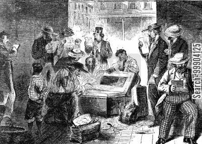 southerners cartoon humor: 'Vigilance Committee' at Memphis Tennessee Robbing Davis's Sketches