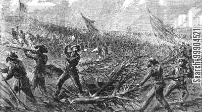 lee cartoon humor: Lee's Attack on Fort Steadman, March 1865