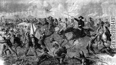 cavalry charge cartoon humor: The Cavalry Charge at Winchester, Virginia, Sep. 19th 1864 (Battle of the Opequon)