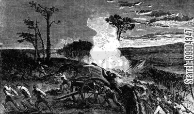battle of chattanooga cartoon humor: The Army of the Cumberland - Gen. Baird's Division Capturing Rebel Guns on Left of Missionary Ridge