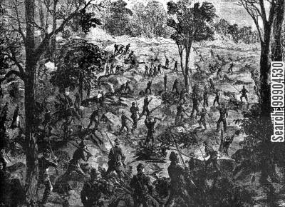 northern army cartoon humor: The Army of the Cumberland in Lookout Valley- 33rd Mass., 73rd Ohio Volunteers Capture Rifle Pits