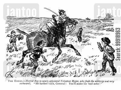 victorian cavalry cartoon humor: The Enemy
