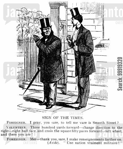 victorian soldier cartoon humor: Sign of the Times