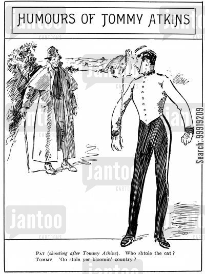 victorian soldier cartoon humor: Humours of Tommy Atkins
