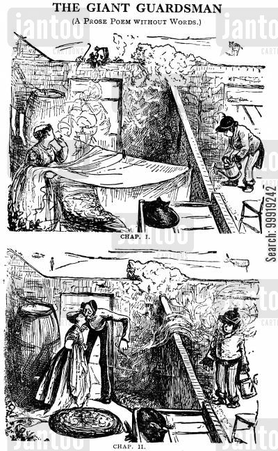 victorian soldier cartoon humor: The Giant Guardsman Chapters I and II