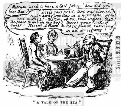 victorian surgeons cartoon humor: A Tale of the Sea