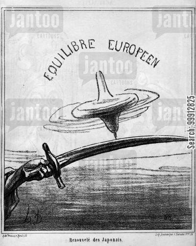 armament cartoon humor: European Equilibrium - Restored by the Japanese