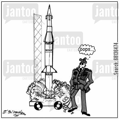 launching cartoon humor: Oooops!